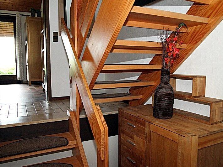 Haus 93 im Feriendorf Öfingen Haus Mohnblume Treppenaufgang