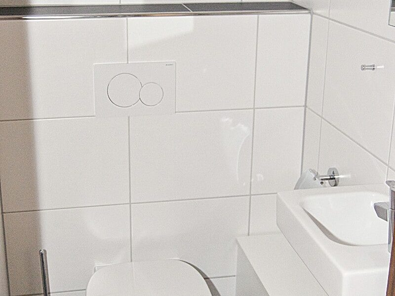 Separate Toilette Haus 93 im Feriendorf Öfingen Haus Mohnblume